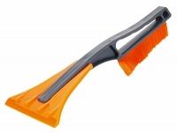 Щетка для уборки снега со скребком (34см)