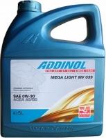 Масло моторное ADDINOL Mega Light MV 039 0W-30 A5/B5