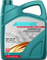Моторное масло ADDINOL Superior 040 0W-40