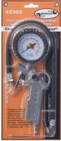 Пистолет для подкачки шин с манометром легковой 10 атм