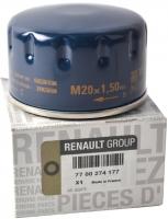 Фильтр масляный RENAULT 7700274177 Logan 1.4/1.6/Largus