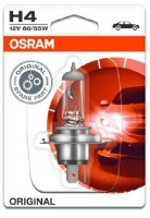 Лампа г/с H4 (60/55W) P43t-38 Original блистер 12V 64193-01B 4050300925127 OSRAM