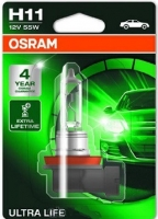 Лампа г/с H11 (55W) PGJ19-2 Ultra Life блистер 12V 64211ULT-01B 4052899436114 OSRAM