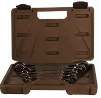 Набор ключей комбинированных трещоточных  8-19 мм Ombra