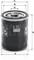 Фильтр масляный W67