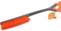 Щетка для уборки снега с мягкой щетиной и скребком (52см)