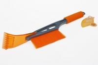 Щетка для уборки снега со скребком компактная (44см)