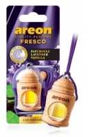 Ароматизатор на зеркало Areon fresco patchouli lav vanill бутылочка